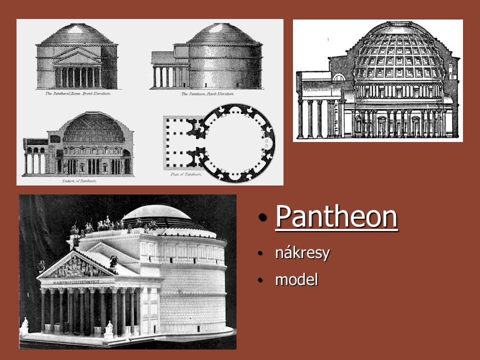 Pantheon nákresy model