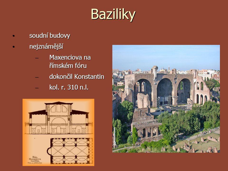 Baziliky soudní budovy nejznámější Maxenciova na římském fóru