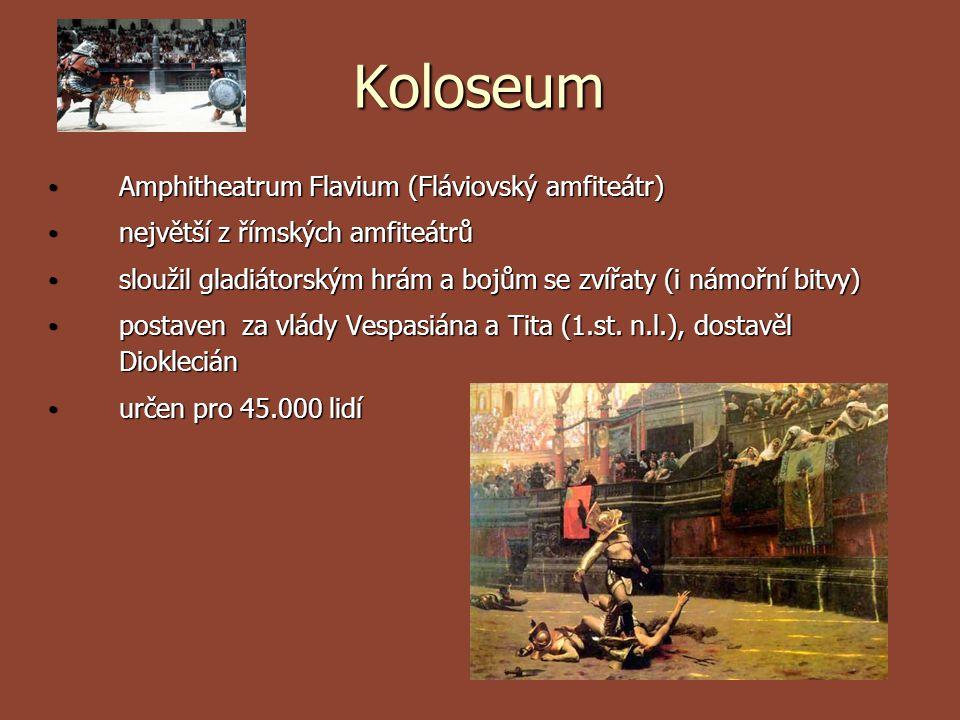 Koloseum Amphitheatrum Flavium (Fláviovský amfiteátr)