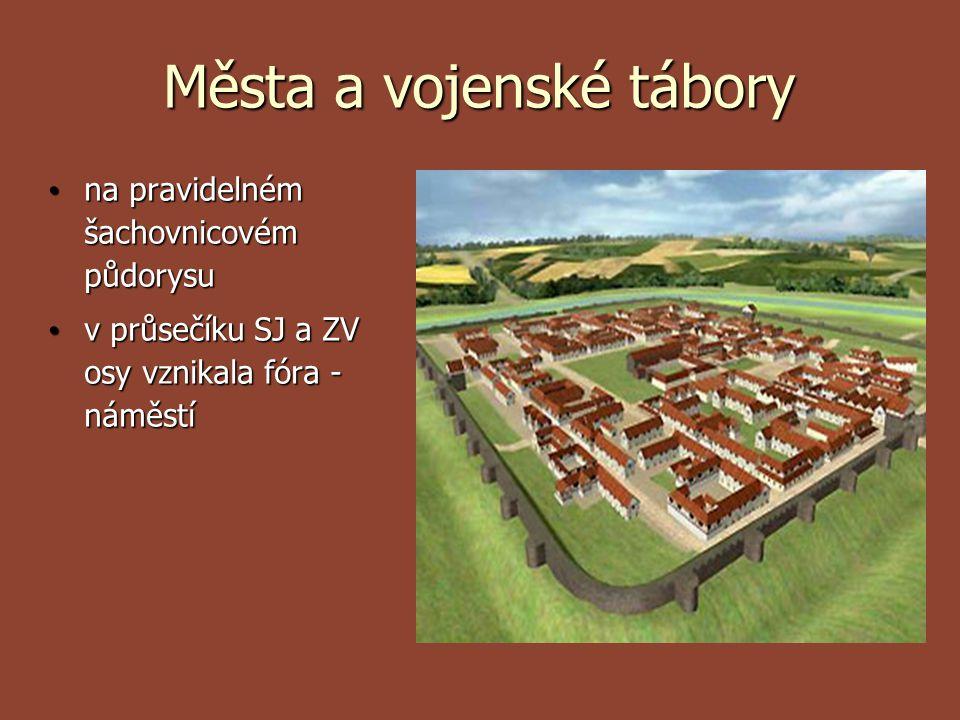 Města a vojenské tábory