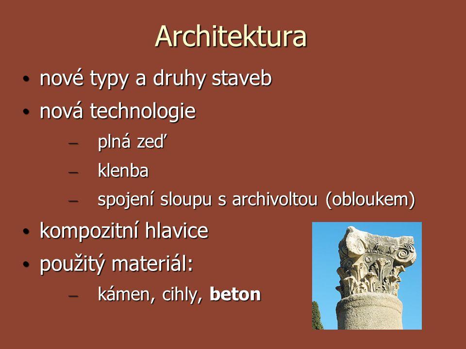 Architektura nové typy a druhy staveb nová technologie