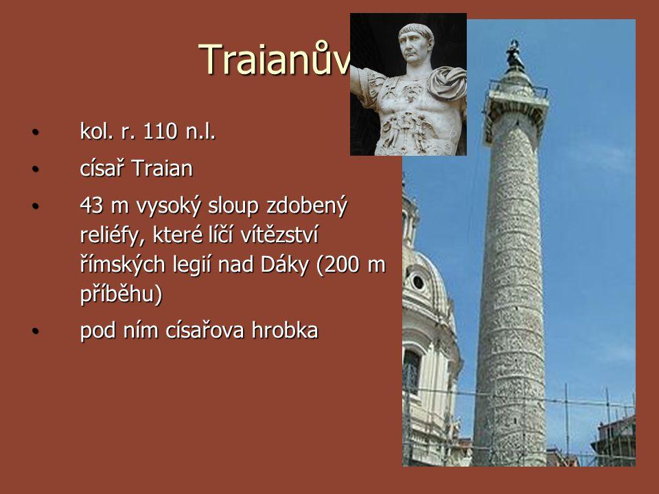 Traianův sloup kol. r. 110 n.l. císař Traian