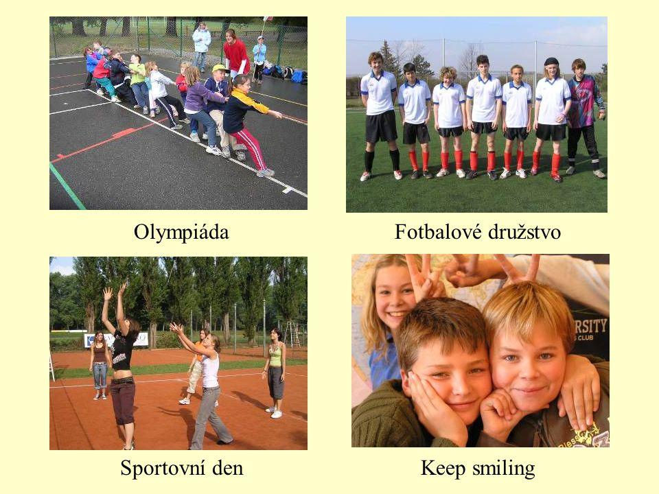 Olympiáda Fotbalové družstvo Sportovní den Keep smiling
