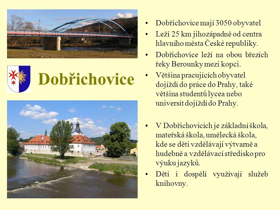 Dobřichovice Dobřichovice mají 3050 obyvatel