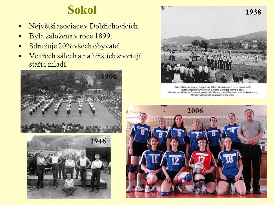 Sokol 1938 Největší asociace v Dobřichovicích.
