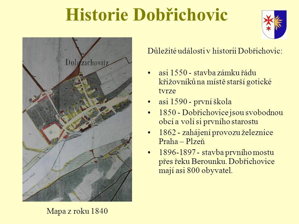 Historie Dobřichovic Důležité události v historii Dobřichovic: