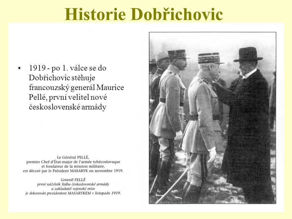 Historie Dobřichovic 1919 - po 1.