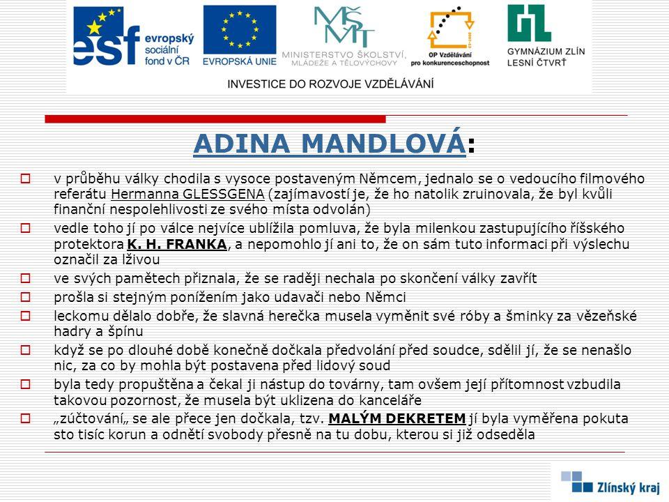 ADINA MANDLOVÁ: