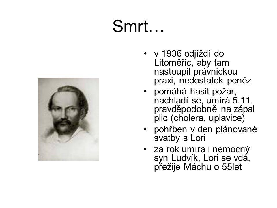 Smrt… v 1936 odjíždí do Litoměřic, aby tam nastoupil právnickou praxi, nedostatek peněz.