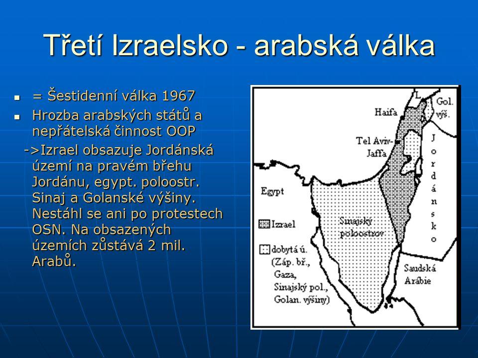 Třetí Izraelsko - arabská válka