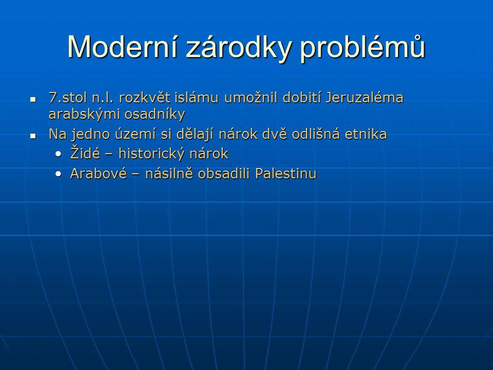 Moderní zárodky problémů