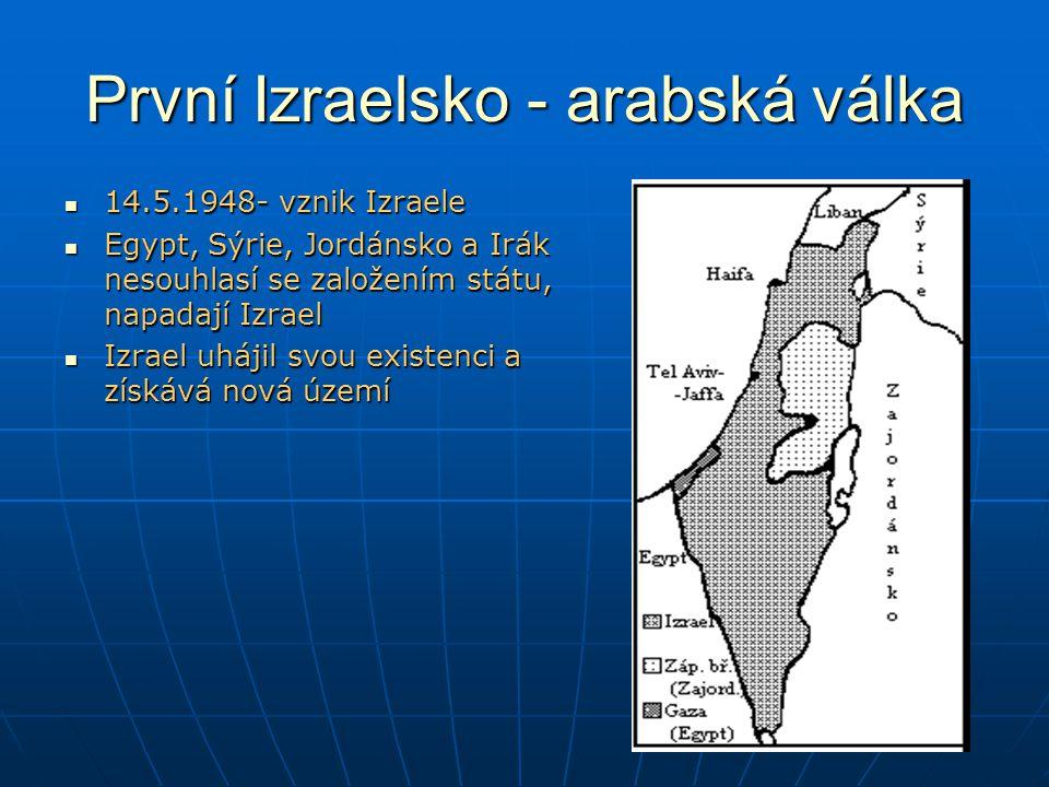 První Izraelsko - arabská válka