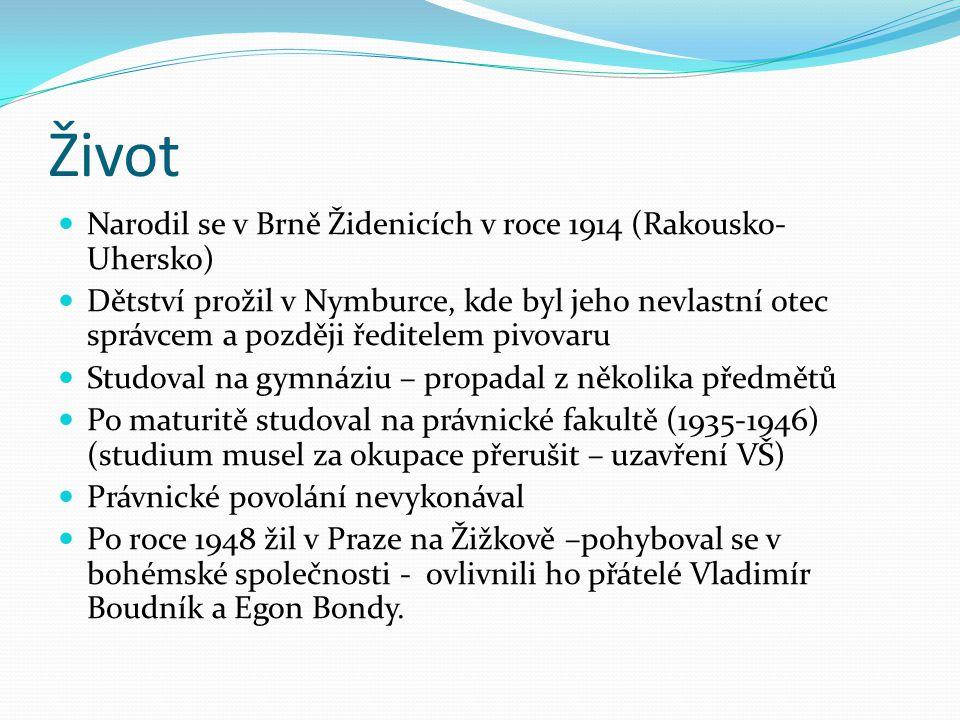Život Narodil se v Brně Židenicích v roce 1914 (Rakousko- Uhersko)