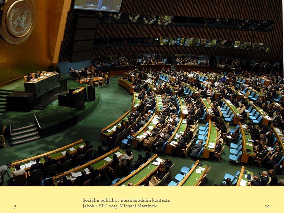 5 Sociální politika v mezinárodním kontextu. Jabok / ETF, 2013. Michael Martinek