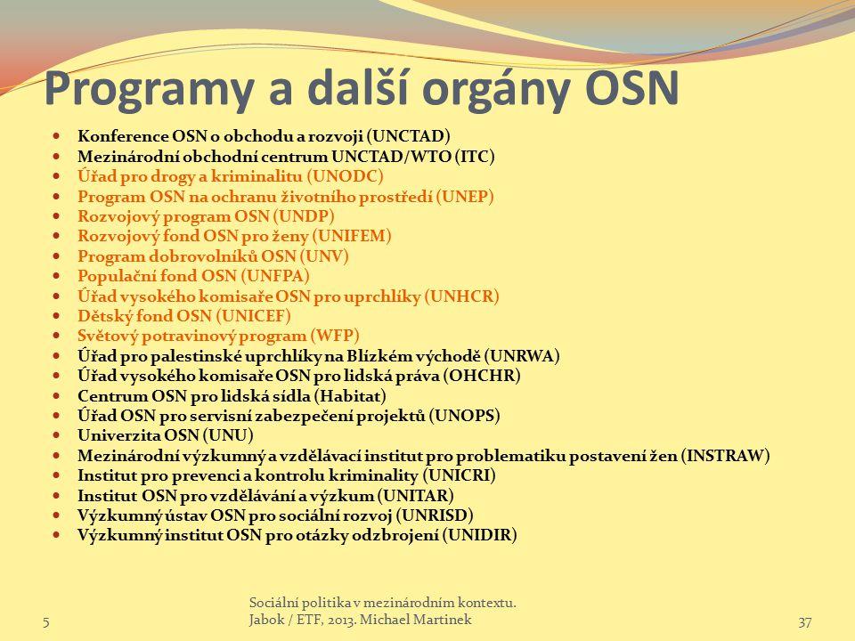 Programy a další orgány OSN