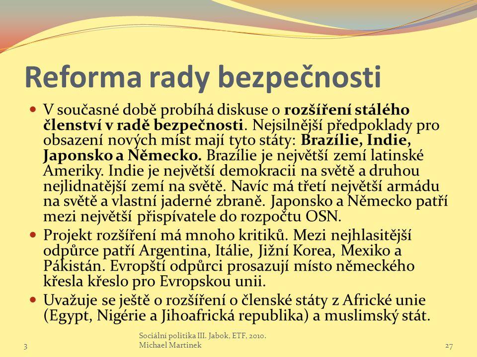Reforma rady bezpečnosti