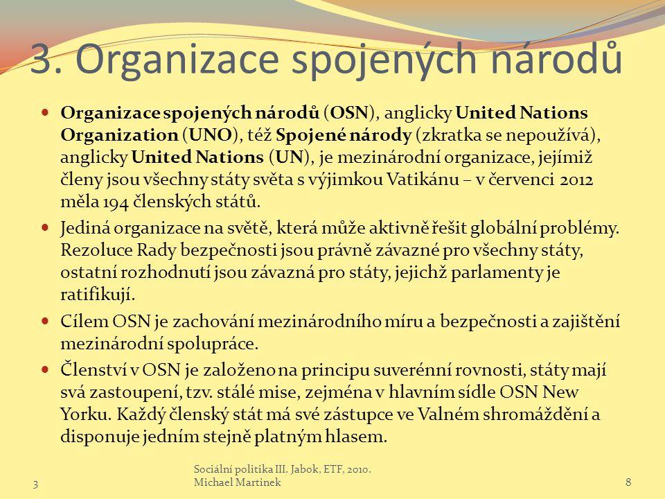 3. Organizace spojených národů