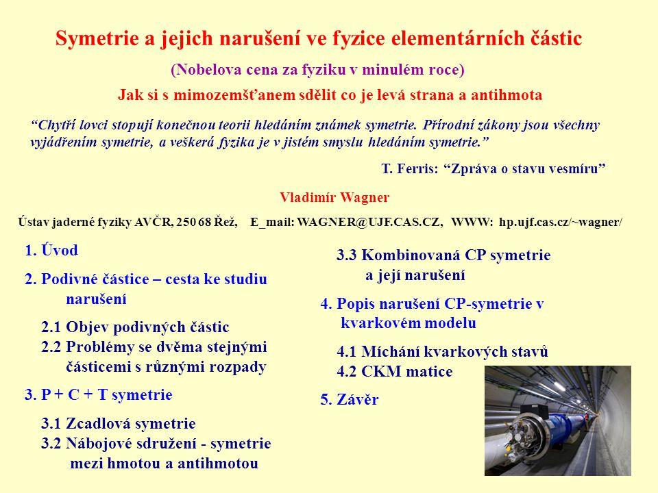Symetrie a jejich narušení ve fyzice elementárních částic