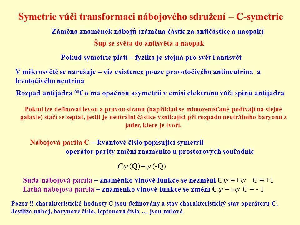 Symetrie vůči transformaci nábojového sdružení – C-symetrie