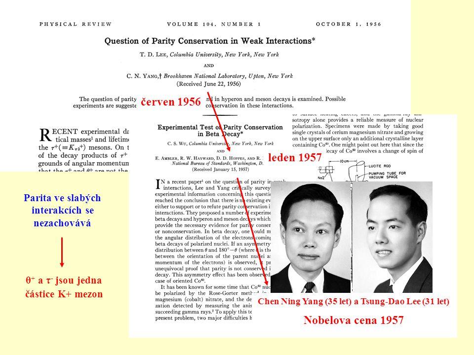 červen 1956 leden 1957 Nobelova cena 1957