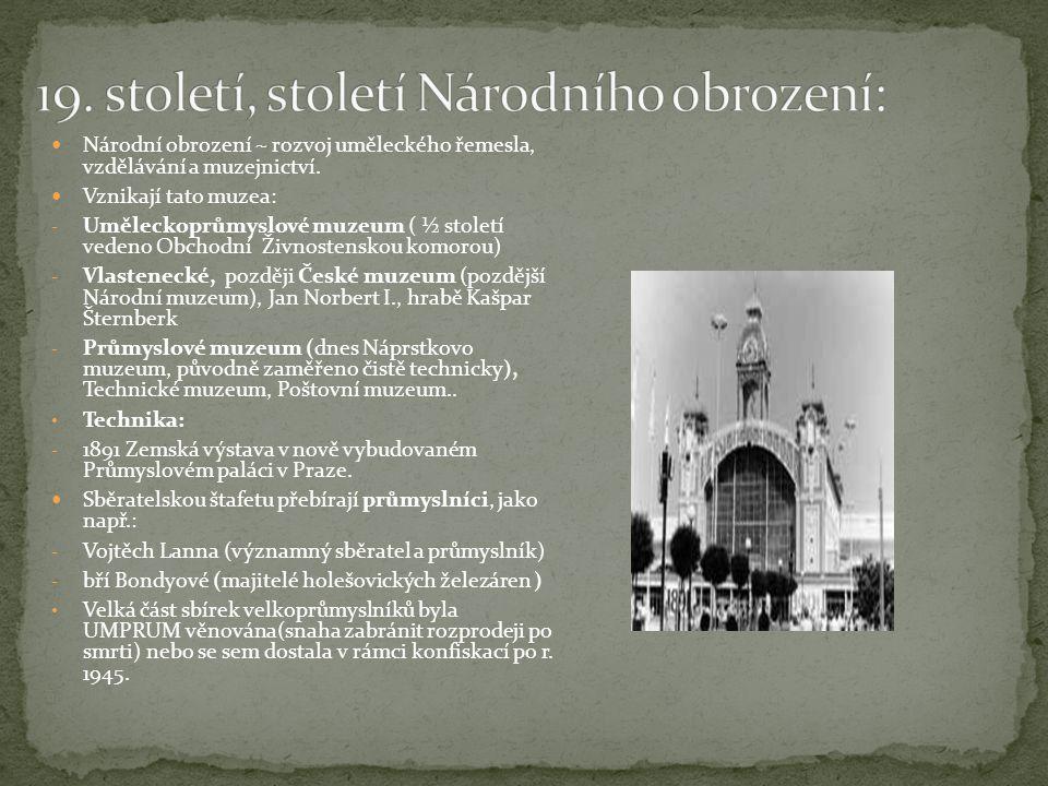 19. století, století Národního obrození: