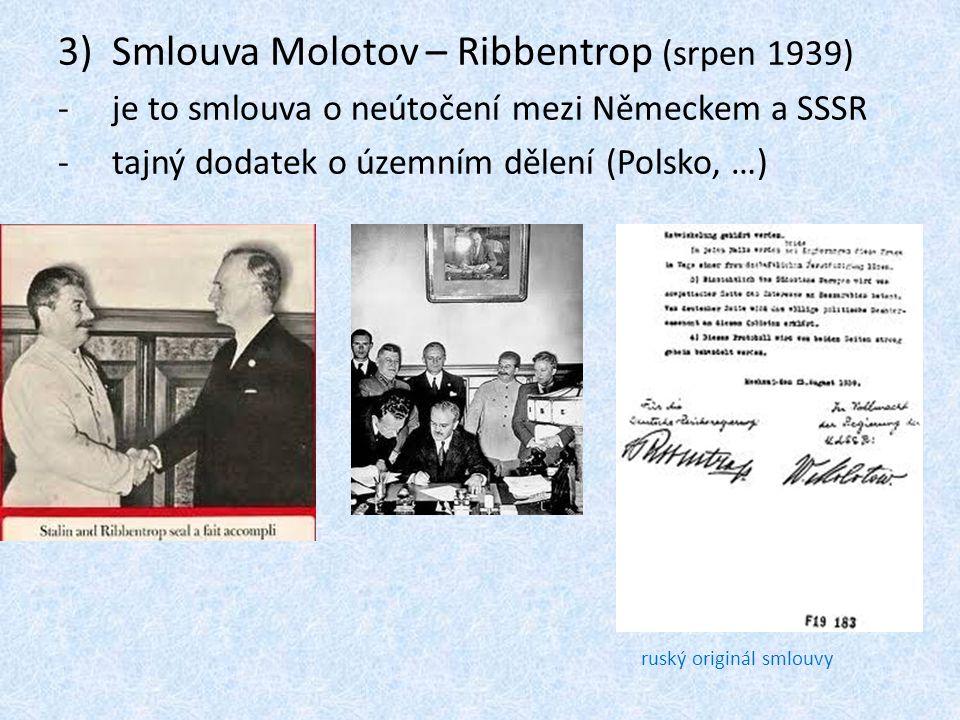 Smlouva Molotov – Ribbentrop (srpen 1939)