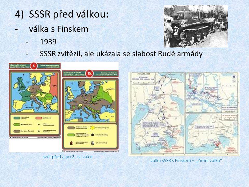 SSSR před válkou: válka s Finskem 1939