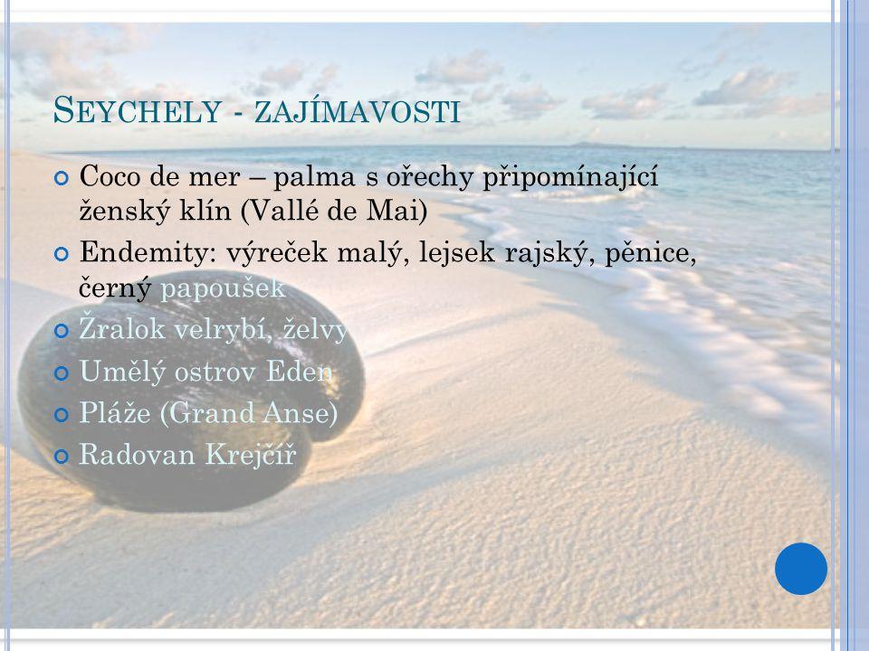 Seychely - zajímavosti