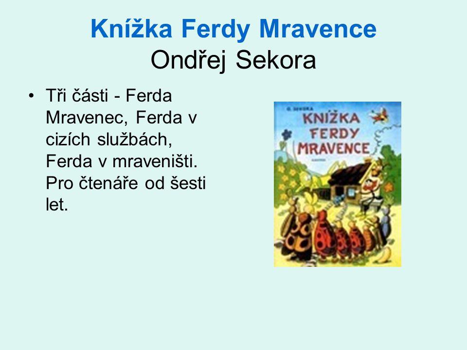 Knížka Ferdy Mravence Ondřej Sekora