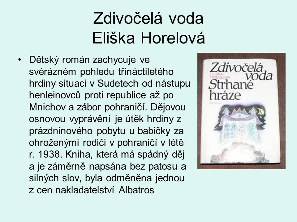Zdivočelá voda Eliška Horelová