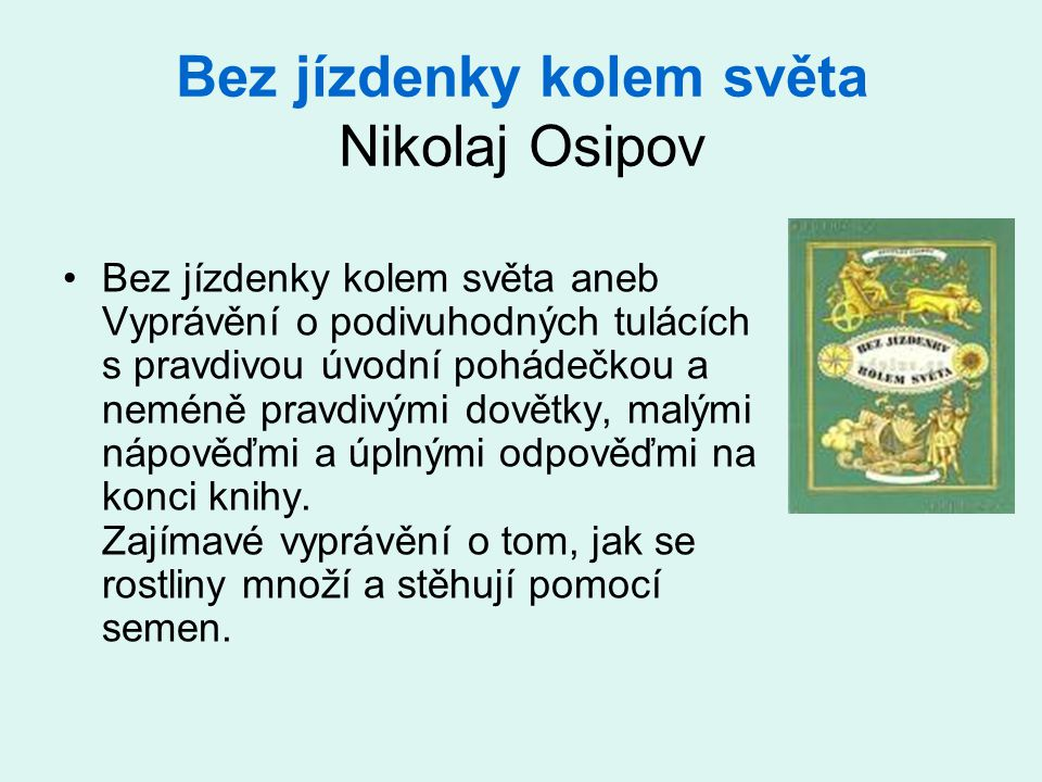 Bez jízdenky kolem světa Nikolaj Osipov