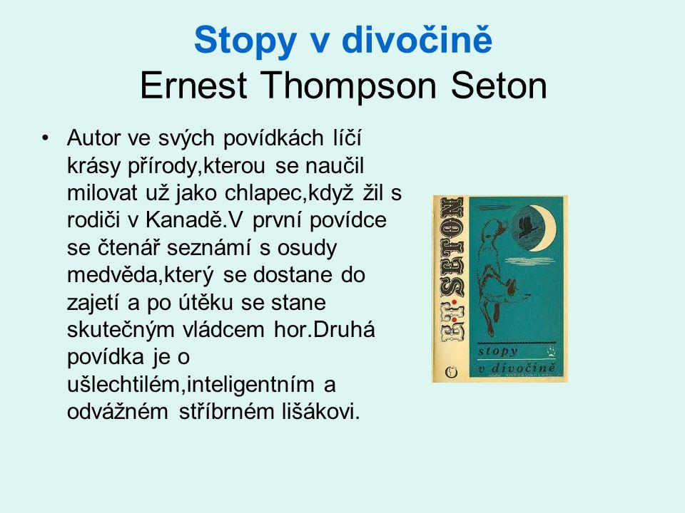 Stopy v divočině Ernest Thompson Seton