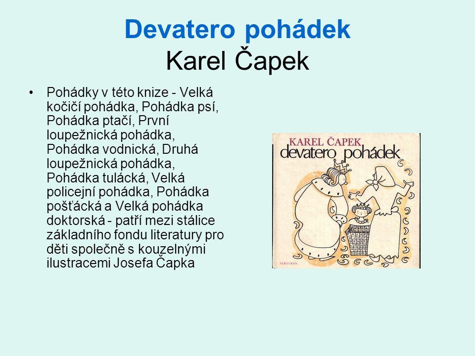 Devatero pohádek Karel Čapek