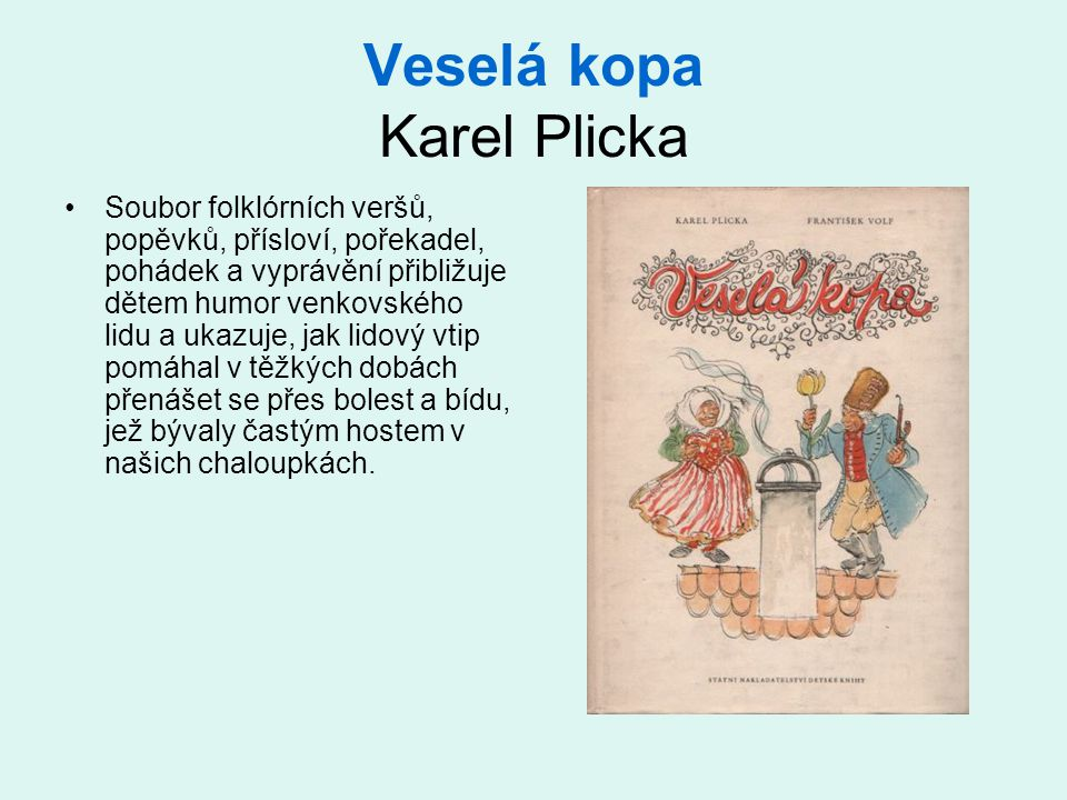Veselá kopa Karel Plicka