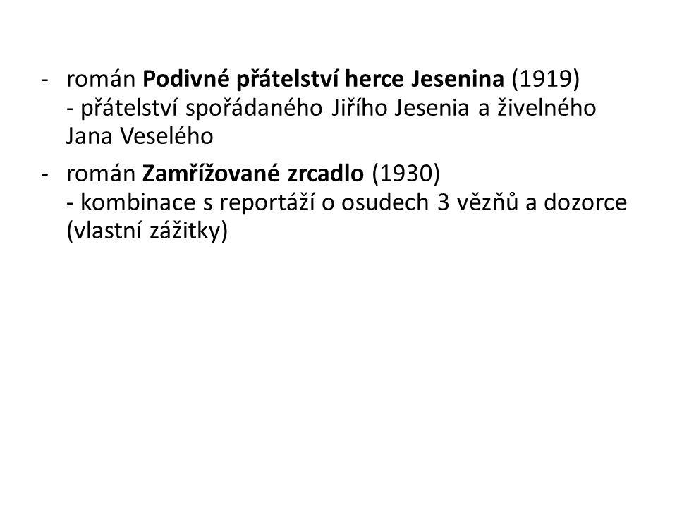 román Podivné přátelství herce Jesenina (1919)
