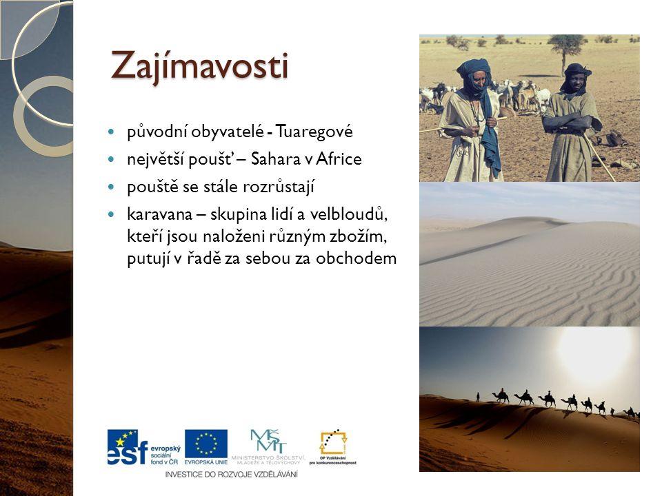 Zajímavosti původní obyvatelé - Tuaregové