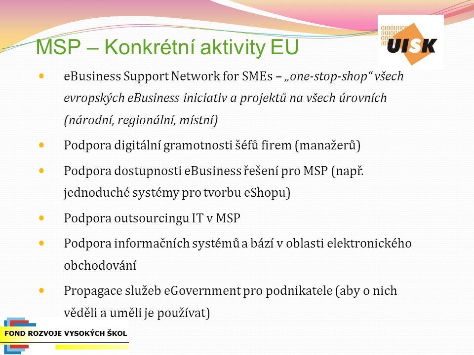 MSP – Konkrétní aktivity EU