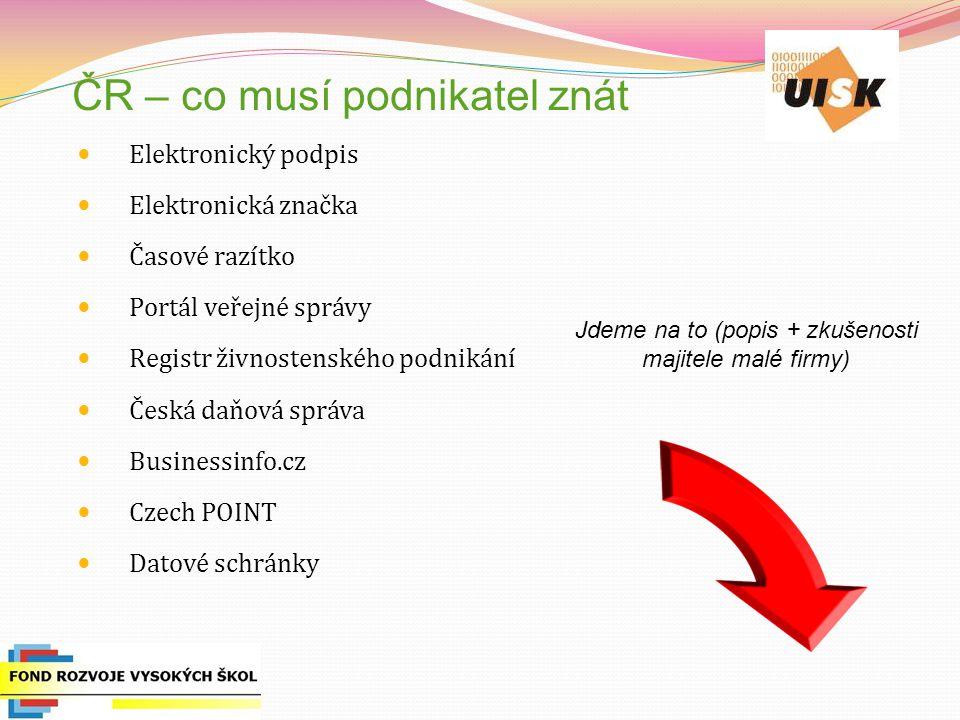 ČR – co musí podnikatel znát