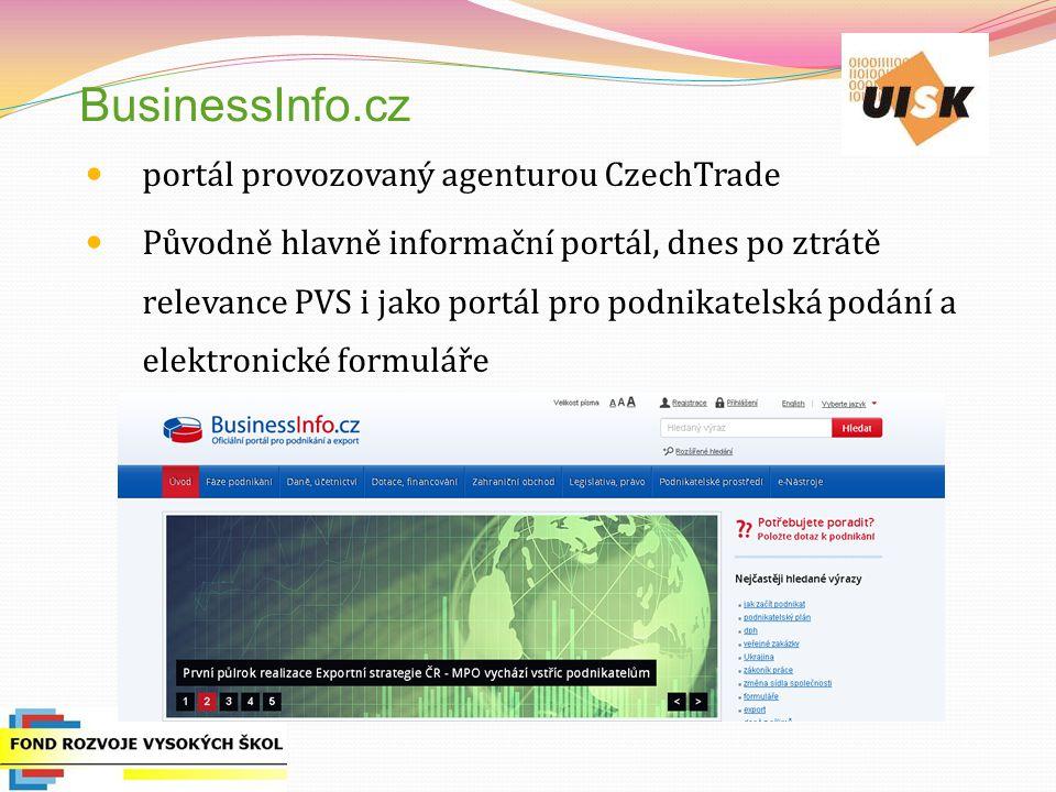 BusinessInfo.cz portál provozovaný agenturou CzechTrade