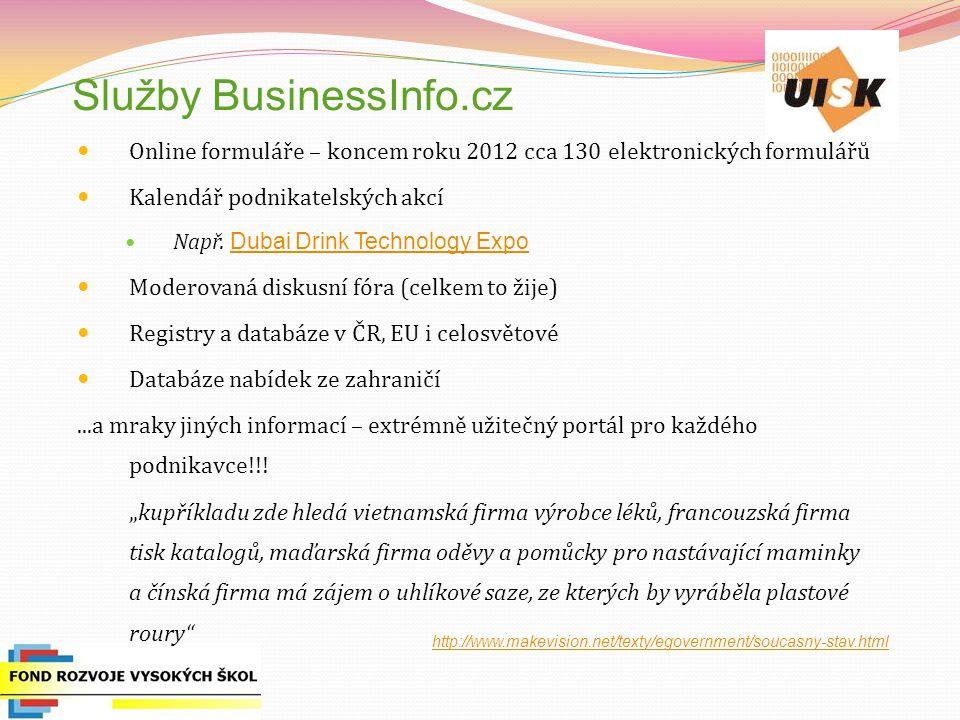 Služby BusinessInfo.cz