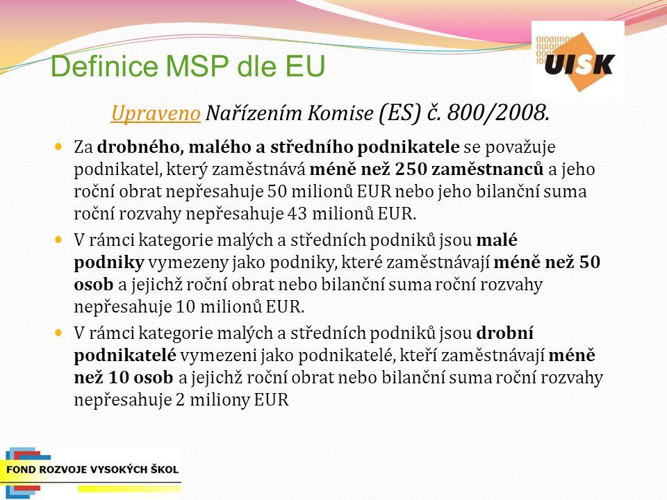 Upraveno Nařízením Komise (ES) č. 800/2008.
