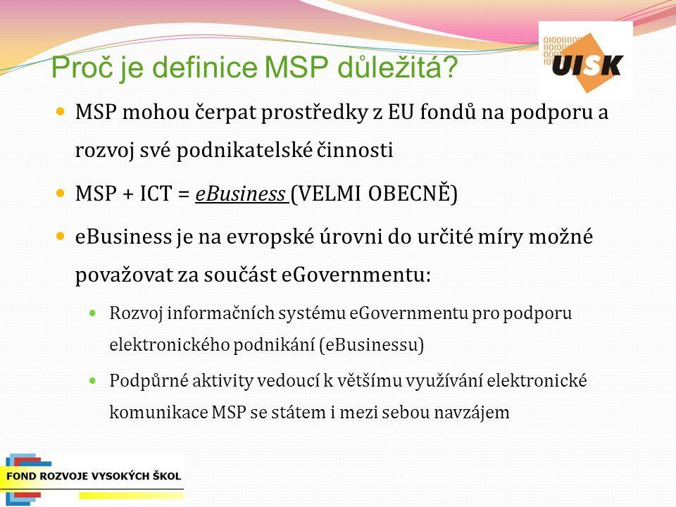 Proč je definice MSP důležitá