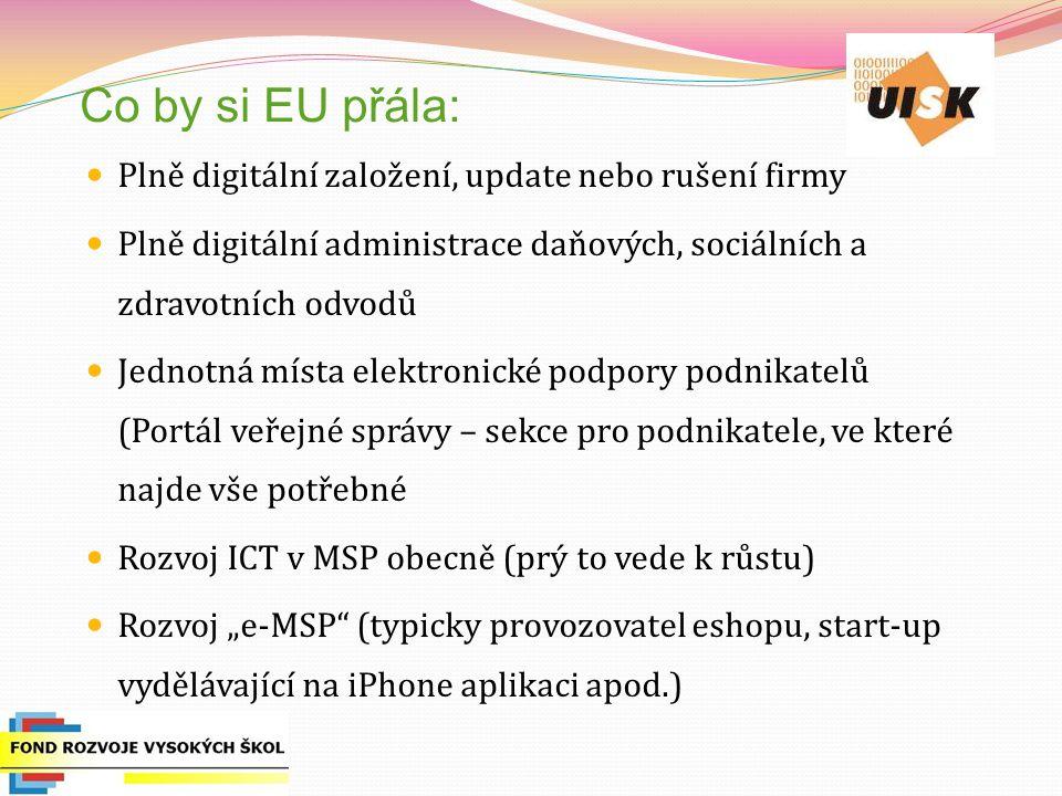 Co by si EU přála: Plně digitální založení, update nebo rušení firmy