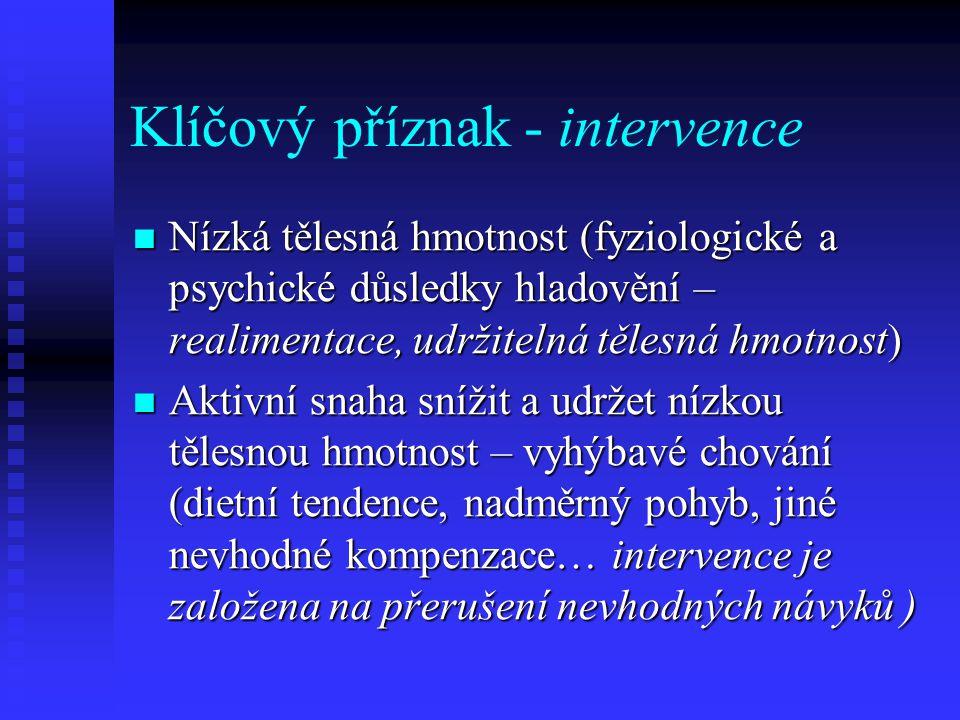 Klíčový příznak - intervence