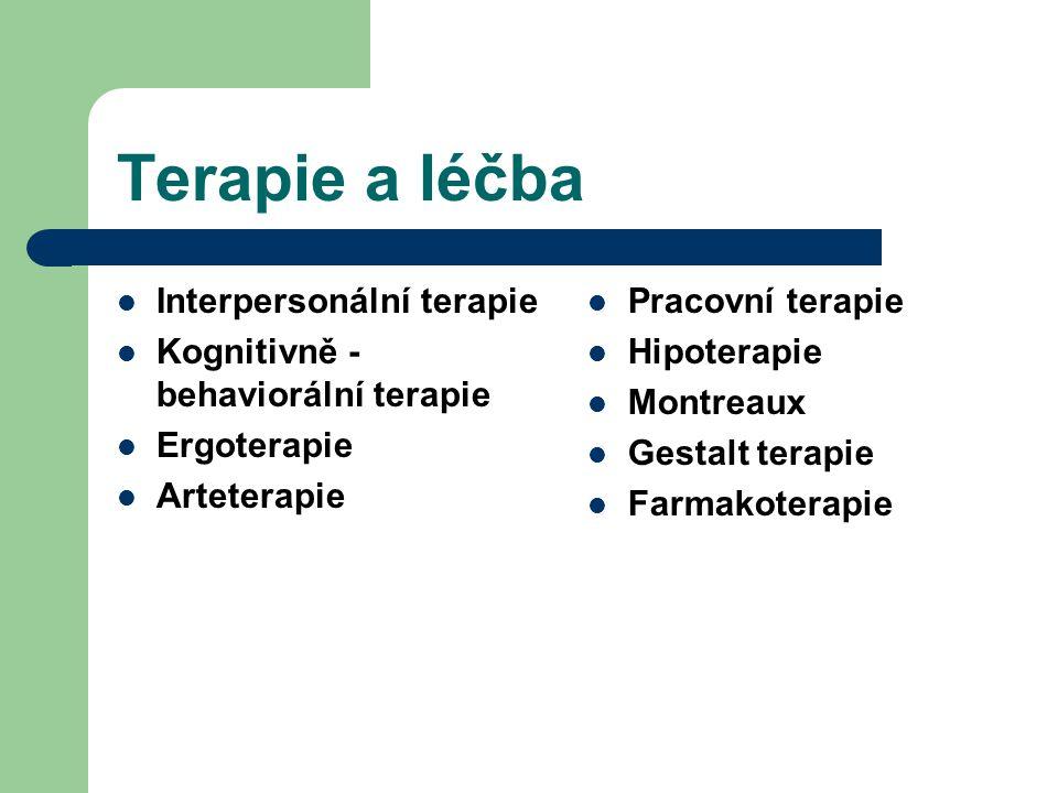 Terapie a léčba Interpersonální terapie