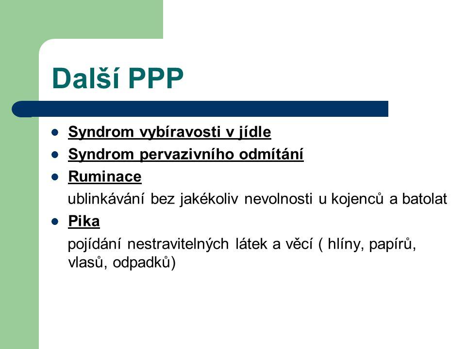Další PPP Syndrom vybíravosti v jídle Syndrom pervazivního odmítání