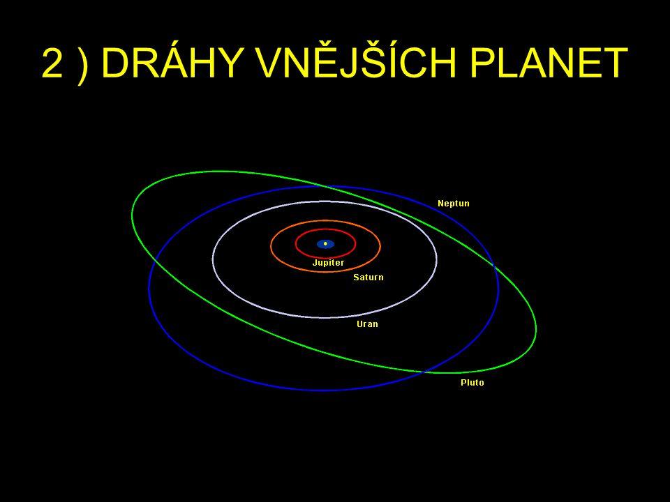 2 ) DRÁHY VNĚJŠÍCH PLANET