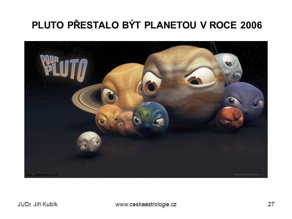PLUTO PŘESTALO BÝT PLANETOU V ROCE 2006