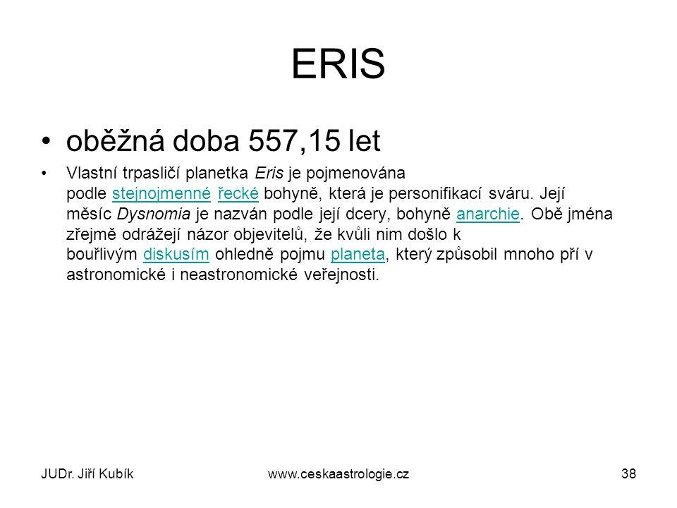 ERIS oběžná doba 557,15 let.