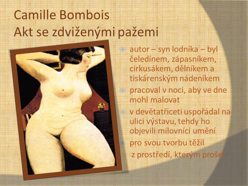 Camille Bombois Akt se zdviženými pažemi